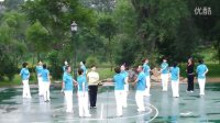 山海关威远公园快乐舞步健身队复赛练习