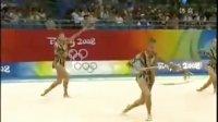 北京奥运艺术体操 俄罗斯艺术体操队 3圈2棒