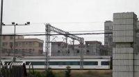 CRH1 動車組 D7167次與 DF11G牽引Z832次同時駛離東莞(常平)站
