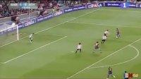 西班牙超级杯 梅西两球伊布助攻 巴萨大胜夺冠