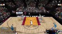 【阿爱出品】《NBA2KOL》游戏解说自由对抗赛勇士VS热火:娃娃脸致命压哨三分