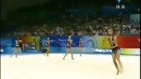 北京奥运艺术体操 意大利艺术体操队 5绳操
