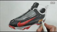 耐克运动鞋马克笔上色视频教程 意翔工业设计手绘推荐视频
