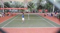 2011全国大学生暨校长网球锦标赛,暴击男,牛逼的发球。。。。