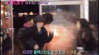 110217 MnetWide HJ attending musical Heaven's tear
