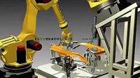 机械加工过程完美仿真-机器人手臂三维仿真动画-机器人手臂轴承应
