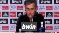"""穆里尼奥新闻发布会:""""我认为梅西应当被罚下"""""""
