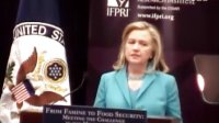 美国国务卿希拉里•克林顿在IFPRI发表演讲