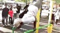 上跃双力臂-黑人街头极限健身集锦