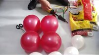 桌面气球装饰教程  淘宝id:天使爱恋99