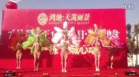 安徽省合肥市阿吉飞天艺术团大型桑巴羽毛开场