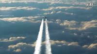 【视频】不同航线两架飞机空中邂逅