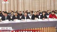 省人大代表审议省人大常委会工作报告 120214 安徽新闻联播