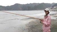shimanoTV粉红色迷彩美女滩钓体验二