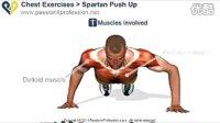 斯巴达俯卧撑,一招练出肌肉男。
