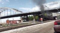 HD:在美国第一天的火车巨星前进型6988
