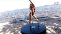 Anastasia Sokolova - Perform Pole Dance On The Beach
