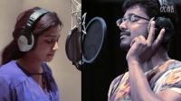 Vijay与Shreya Ghoshal 为电影《Jilla》幕后配唱