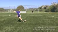 足球教学:大力射门