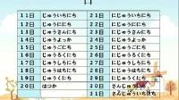 明王道日语 日语听力数字篇3——年月日、星期、时间