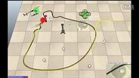 空地机器人跟踪控制仿真实验-混合编队控制-多机器人仿真-动力学