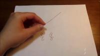 简单的曲线形绕线耳环吊坠DIY