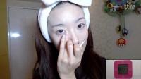 「西西」五分钟无镜化妆挑战  微博:Pinky_Sisi