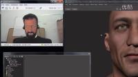 Faceware Live 2.0在MotionBuilder中的无标记点实时面部动画