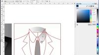 服装设计1coreldraw女服装设计 男士上衣教程