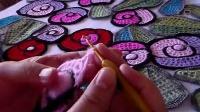 玫瑰披肩视频教程2:玫瑰花的钩法