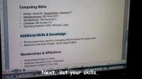 """英语教程 -【职场常用英语】英语简历 """"how to write resume"""""""
