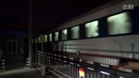 新长铁路Z52次 南通市海安县海古线道口拍车 新长线
