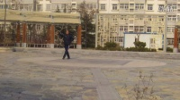 海岱苑广场舞 雨中