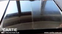 SUPER PPF U系列透明膜镜面贴膜-对比测试 刮擦亮度(铜丝刷)