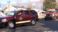 美国消防车圣诞大巡游(1)