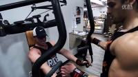 肌肉男模Marcfitt和Julien Haroun 胸部手臂训练 2015.1.3