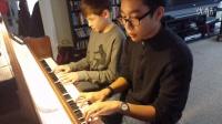 蓝山山和钢琴课同学嘉颖练习音乐之声(2015年1月18日)