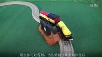 #003 托马斯和朋友们-原油抽取补给工作玩具套装 达特 英语视频 男孩玩具 小火车ST