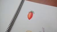 [萌绘]色铅笔绘蕃茄流程