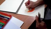 [萌绘]色铅笔绘苹果流程