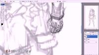(有声教程)刺客角色的绘制 第一课 PS游戏原画设计CG插画教程