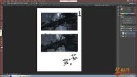 名动漫原画基础视频教程第三节:场景透视与空间