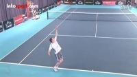 网球技术教程-上旋发球