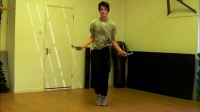 360 spin land in cross double jump rope trick slow motion