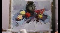 色彩静物示范杭州古都画室水粉画教学视频艺考前美术