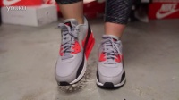 Wmns Nike Air Max 90 Essential -Wolf Grey- Infrared 上脚欣赏