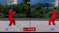 40式杨式太极拳 竞赛套路 正面背面合一 有口令 李德印主讲  宗维洁演示_720x576_2