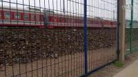 HXD3C牵引客电K1301次列车通过会3B牵引敞车大列快速通过