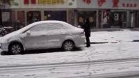 于金在汉口的2008雪景