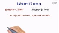 """免费英语学习视频-【跟Jim学英语】英语学习视频教程""""between vs among""""第一节"""